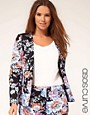 Bild 1 von ASOS CURVE  Blazer mit Blumenmuster