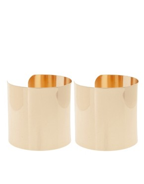 Image 1 ofASOS Pack of Two Smooth Double Cuffs