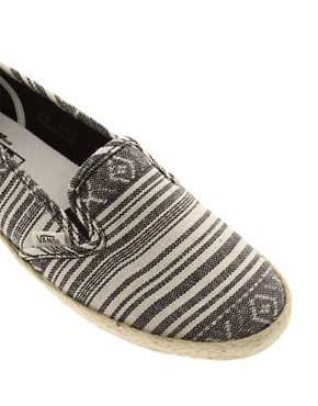 Image 2 ofVans Slip On Low Pro Stripe Espadrilles