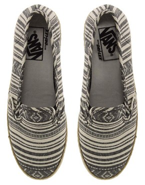 Image 3 ofVans Slip On Low Pro Stripe Espadrilles