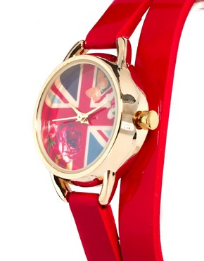 Image 4 ofAccessorize Double Wrap Flag Watch
