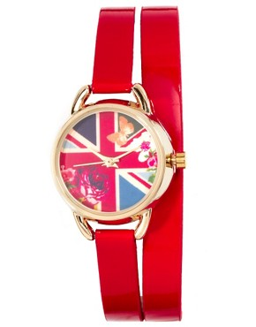 Image 1 ofAccessorize Double Wrap Flag Watch