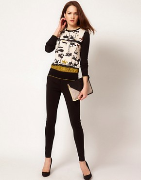 Image 4 ofTed Baker Cameo Printed Top