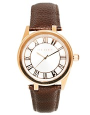 Ted Baker Leather Strap Watch TE1079