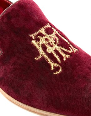 Image 2 of ASOS Loafers With Embroidery Detail