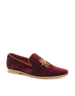 Image 1 of ASOS Loafers With Embroidery Detail