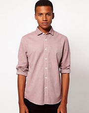 ASOS Slim Shirt in Brushed Twill