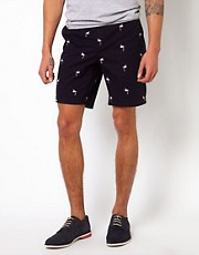 Ted Baker Embroidered Flamingo Shorts