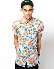 Deus Ex Machina Shirt Belbin Short Sleeve Hawaiian Print