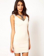 Little Mistress Embellished Collar Dress