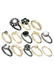 River Island Victoriana Mega Ring Pack