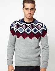 ASOS Fairisle Crew Neck Jumper