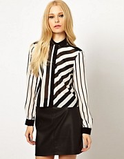 River Island Boxy Stripe Blouse