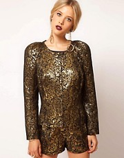 ASOS Gold Jacquard Jacket