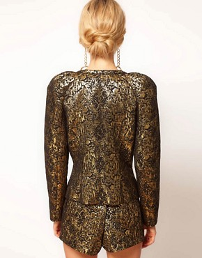 Image 2 ofASOS Gold Jacquard Jacket