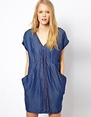 Whistles Jessica Denim Tencel Dress
