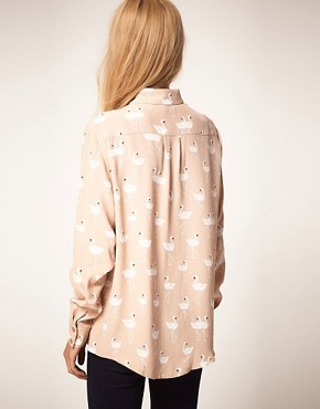 Image 2 ofASOS Shirt With Swan Print