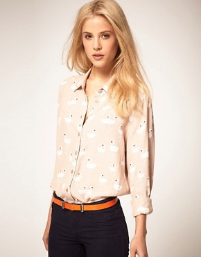 Image 1 ofASOS Shirt With Swan Print