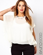 ASOS CURVE - Blusa con drappeggi