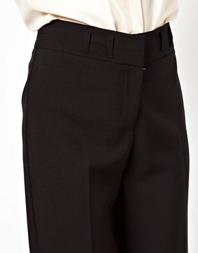 Image 3 ofASOS Wide Leg Trousers With Notch Back Detail