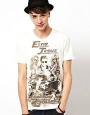 Elvis Jesus T-Shirt Crew Print