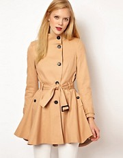ASOS Dipped Hem Skater Trench