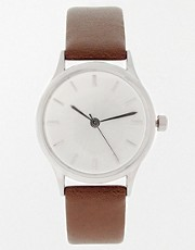 ASOS Brushed Silver Grandad Watch