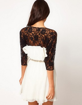 Image 2 ofASOS Skater Dress in Contrast Lace