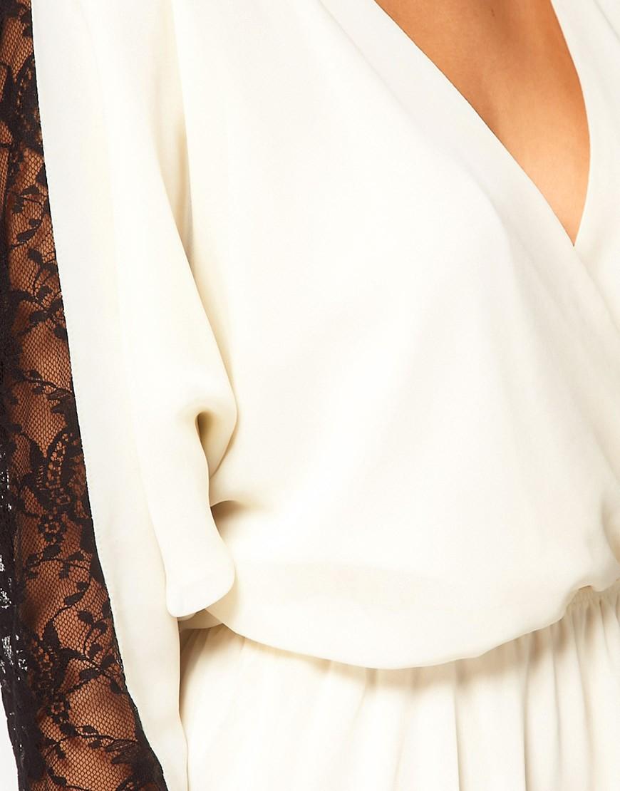 Image 3 ofASOS Skater Dress in Contrast Lace