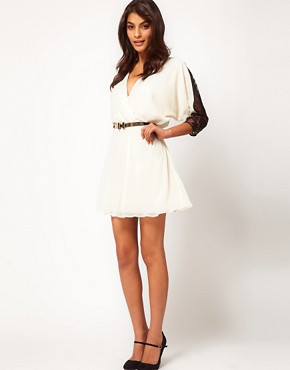 Image 4 ofASOS Skater Dress in Contrast Lace