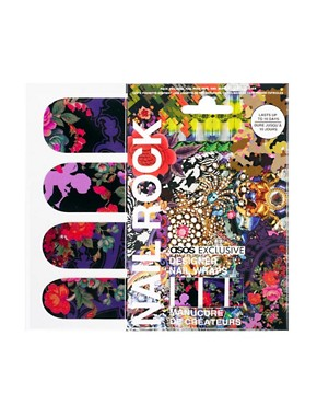 Image 1 ofNail Rock ASOS Exclusive Floral Cherub Woodlands Print Nail Wraps