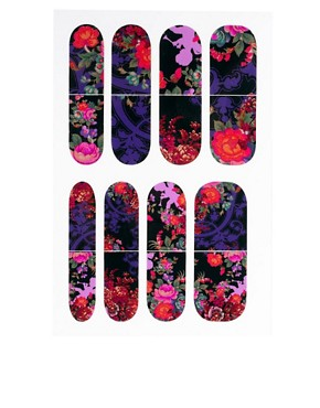 Image 2 ofNail Rock ASOS Exclusive Floral Cherub Woodlands Print Nail Wraps