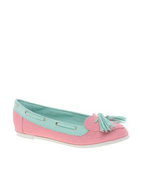 Image 1 ofASOS LOVEBOAT Boat Shoes with Heart Detail
