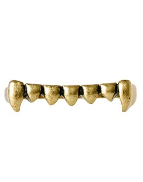 Image 2 ofASOS Double Teeth Ring