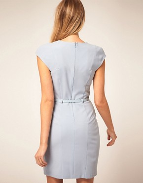 Image 2 ofASOS PETITE Exclusive Wrap Dress With Belt