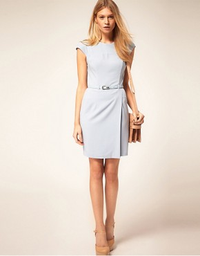 Image 4 ofASOS PETITE Exclusive Wrap Dress With Belt