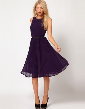 Image 1 of Oasis Stripe Lace Dress