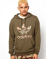 Adidas Originals Hoodie with Camo Trefoil