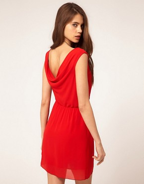Image 2 ofTFNC Sleeveless Cowl Back Wrap Skirt Dress