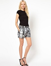 Selected &ndash; Bess &ndash; Bermuda-Shorts mit Blumenmuster