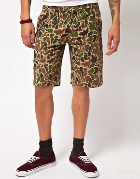Image 1 ofSilas Slam City Skates Colab Camo Shorts