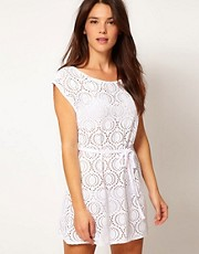 Freya Cha Cha Slash Neck Crochet Tunic