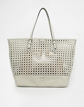 Lipsy Circle Cut Out Metallic Shopper