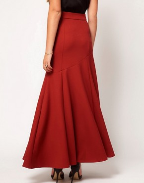 Image 2 ofASOS Maxi Skirt With Seam Detail
