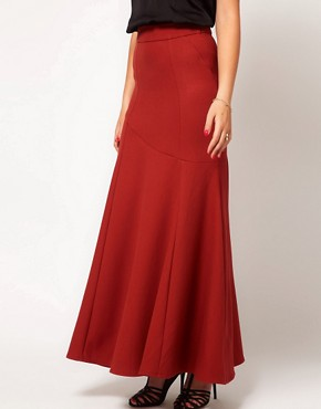 Image 4 ofASOS Maxi Skirt With Seam Detail