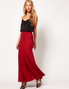 Image 1 ofASOS Maxi Skirt With Seam Detail