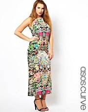 ASOS CURVE Maxi Dress In Dark Based Floral
