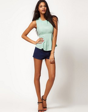 Image 4 ofASOS Sleeveless Top With Peplum