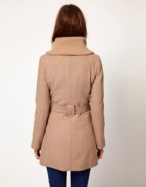 Image 2 ofWarehouse Rib Collar Coat