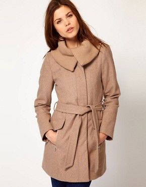 Image 1 ofWarehouse Rib Collar Coat
